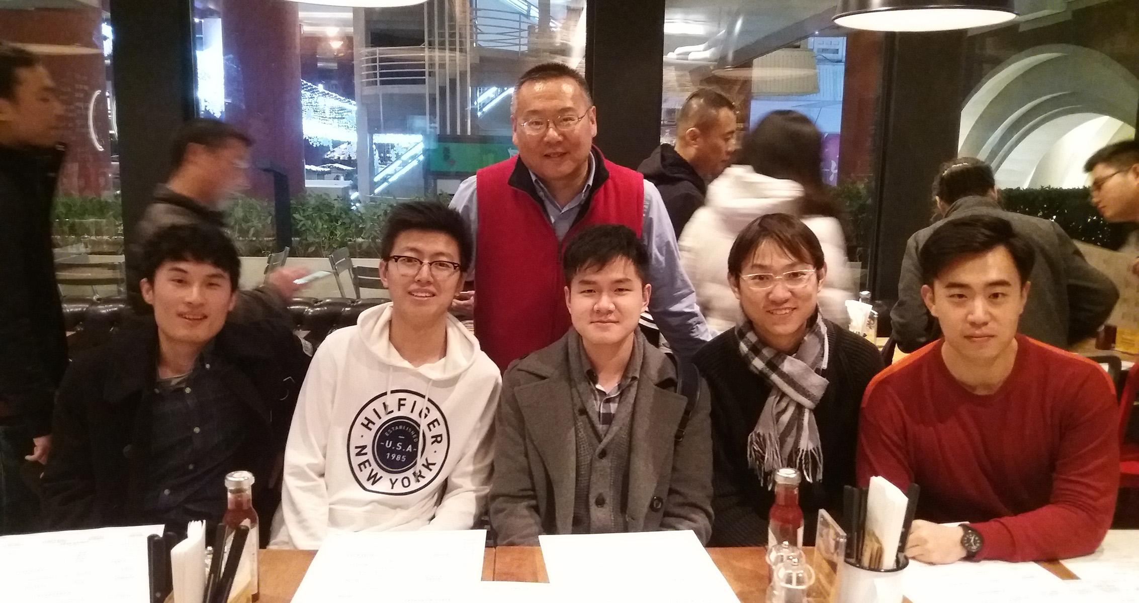 Yan Wang with team