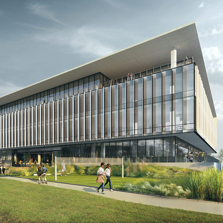 Rendering of APEX office building
