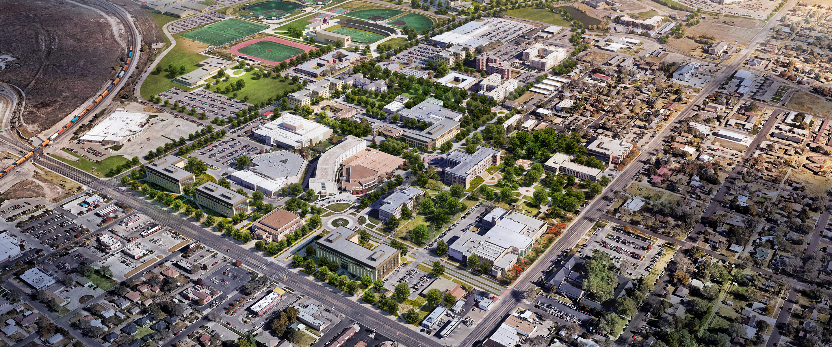 Texas A M University >> West Texas A M University Master Plan Perkins And Will